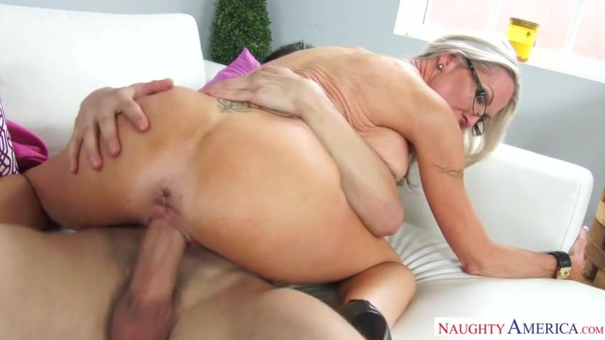 French Blonde Mature Anal