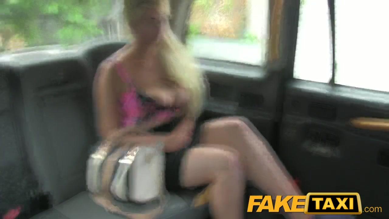 British Blonde Fake Taxi