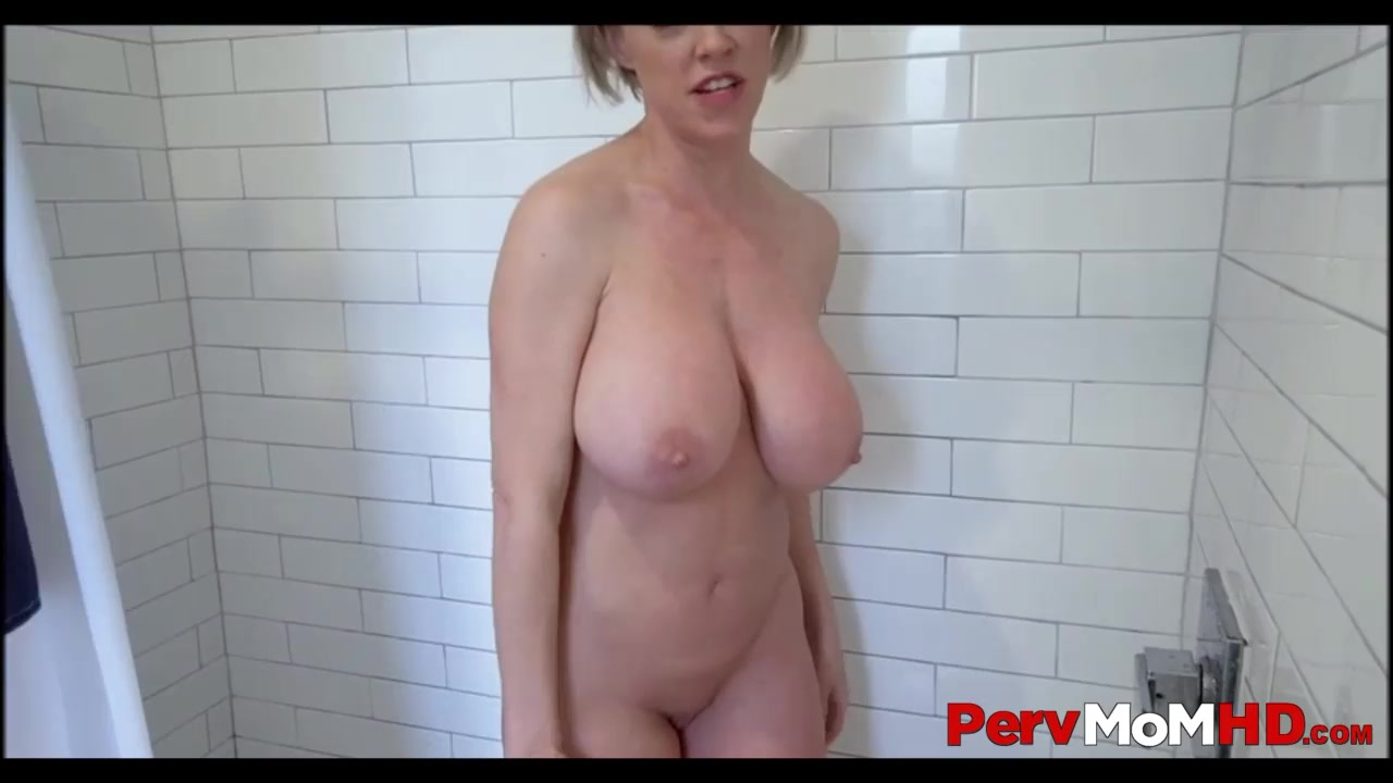 Big Tit Mom Fucks Son Shower