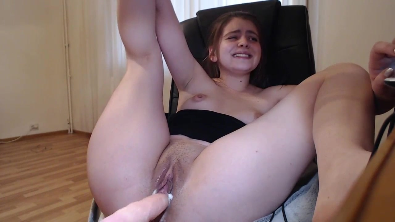 Girl Fucks Cumming Dildo