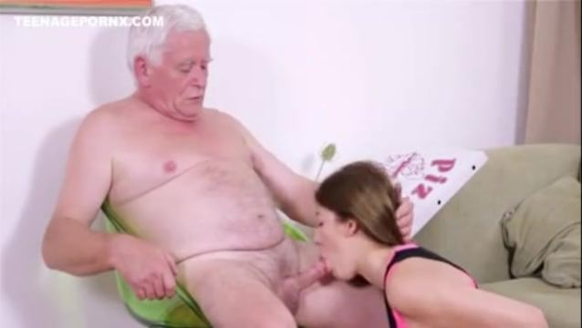 Old Man Young Girl Massage